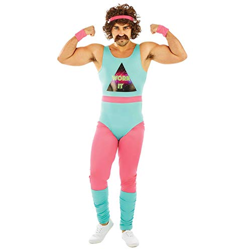 Men's 80s Fitness Instructor Outfit.