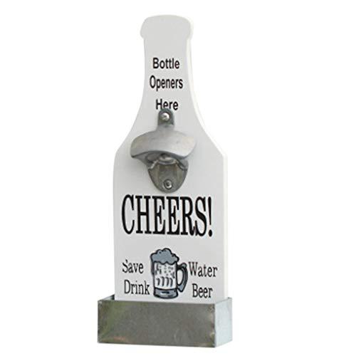 Morelyfish Einzigartige Metallflaschen-Form-Wand-Haken Hängen Monte Bar Bier-Wein-Glas-Cap Flaschenöffner Küchenwerkzeug