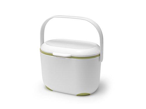 *Addis Komposteimer für die Küche, 2,5 l, Weiß/Grün, weiß/grün, 2.5L*