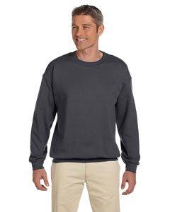 Gildan Men's Heavy Blend Crewneck Sweatshirt - Large - Charcoal - Gildan Crewneck Sweatshirt