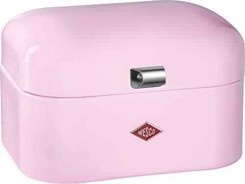 Wesco 235 101 Single Grandy Brotkasten pink 22 x 28 x 17cm (L/B/H), Stainless_Steel
