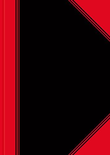 LANDRE 100302815 China-Kladde 6 Stück A4 kariert 60 g/m² holzfrei 96 Blatt Notiz-Buch schwarz/rot für die Schule das Studium oder als vorläufiges Geschäftsbuch.