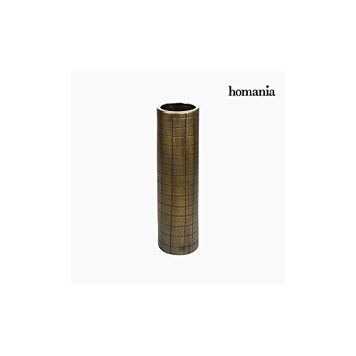 Vase Céramique Or (16 x 16 x 59 cm) by Homania