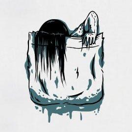 TEXLAB - Brusttasche Ring - Langarm T-Shirt Graumeliert