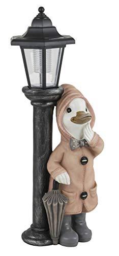 Fountasia Quackers Gartenfigur Ente auf Lampenstab