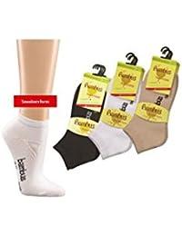 6 Paar Beste Herren Bambus Sneaker Socken Strümpfe schwarz weiß beige