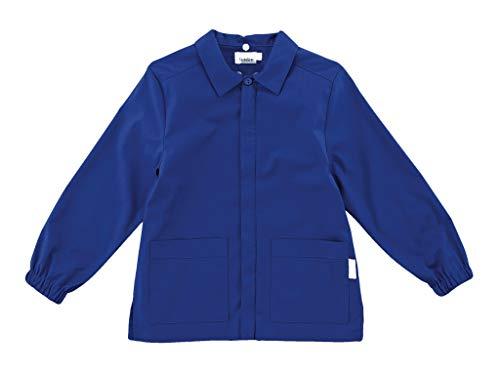Siggi casacca grembiule scuola linea happy school - elementare bambino colore blu senza ricamo - abbottonatura centrale con zip. disponibile nelle taglia dalla 6 a 13 anni