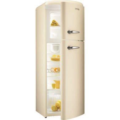 Gorenje RF60309OC Retro Style Right Hand Hinge Top Mount Freestanding Fridge Freezer Cream