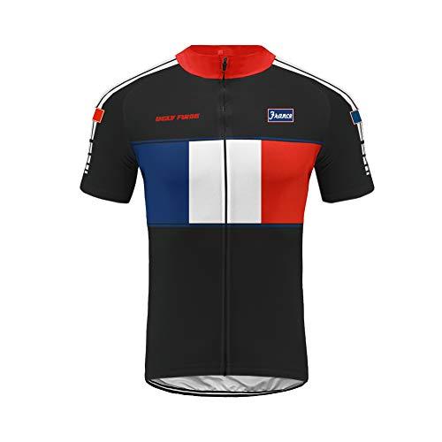 Uglyfrog+ Herren Kurzarm Radtrikot Fahrradtrikot Fahrradbekleidung für Männer mit Elastische Atmungsaktive Schnell Trocknen Stoff 3 Packung -