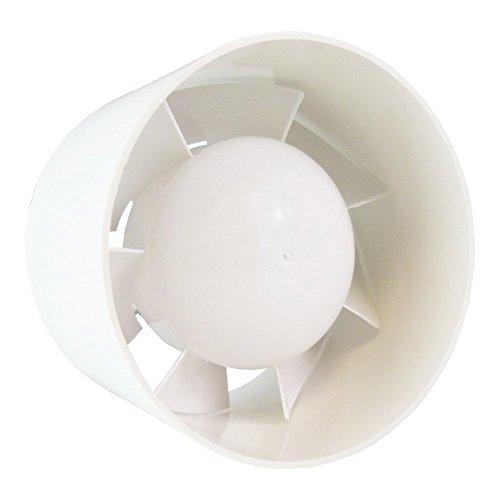 SUCCSALE- Hauslüfter-Badlüfter-Rohrlüfter-Rohrventilator-Kanallüfter-Einbaulüfter 15 WATT-Farbe:weiß-BESTSELLER 2017-125er Durchmesser