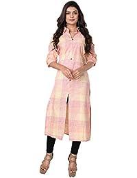 2b201924e1b Aishika Women Indo Western Khadi Linen Kurta Kurti Fancy Formal Casual
