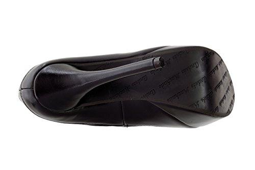 AM589 - Andres Machado - Schuhe aus Ante mit Plateau Schwarz