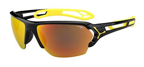 Cébé S'Track - Gafas de sol deportivas, color negro brillante / amarillo, talla L