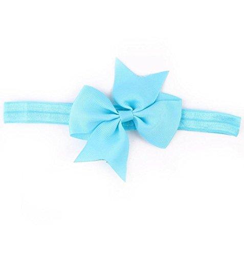 ZEZKT-Girl Baby Kind Mädchen Prinzessin Kristalldiamant Stirnband Blumen Haar-Band Süßes Baby Headband Prinzessin Stretch Stirnbänder Babygeschenke Taufe Geschenk (Hellblau) (Riesen Uniform)