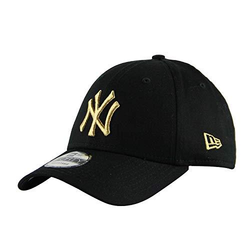 New Era 9Forty Unisex Damen Herren MLB League Essential/Brand Logo 940 Adjustable Cap Strapback Cap Baseball Cap mit 7kmh Aufkleber Schwarz (Mlb Bekleidung)