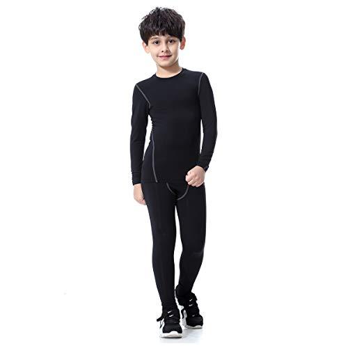 Bwiv Conjunto Térmico para Niños Camiseta Térmica de Manga Larga Pantalones Térmicos para Niños...