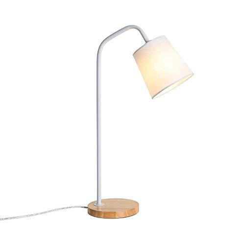 Tischlampen Innenbeleuchtung Led Lampe Schreibtischlampe Modern Stoff-Holz Tischleuchte Augenschutz...