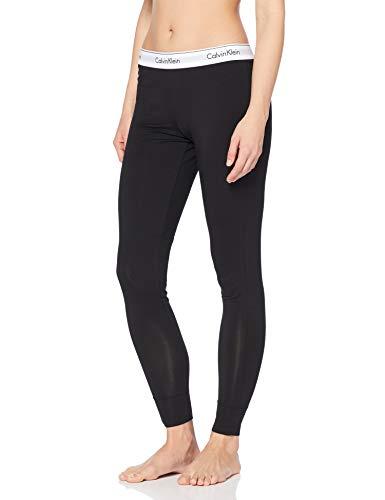Calvin Klein Damen Schlafanzughose MODERN SLEEPWEAR - PANT, Einfarbig, Gr. 38 (Herstellergröße: M), Schwarz (BLACK 001) -