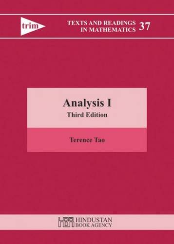 Analysis I (Texts and Readings in Mathematics)