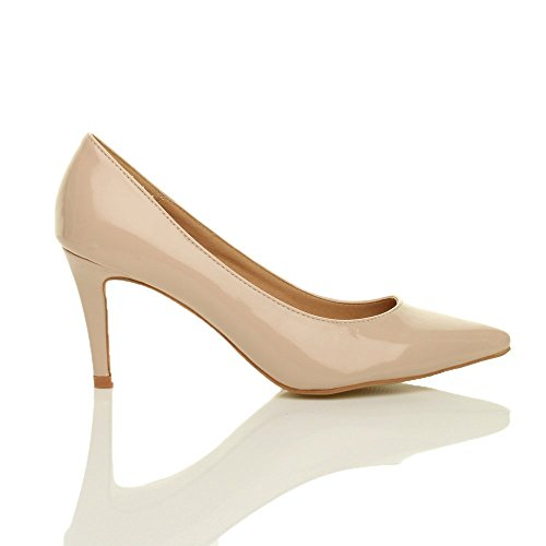 Damen Mittel Absatz Grund Ensemble Wesentliche Spitze Pumps Schuhe Größe 6 39 KrE5W2R1jm