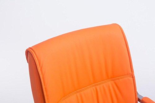CLP XXL Freischwinger-Stuhl mit Armlehne ANUBIS belastbar bis 260 kg gepolstert orange - 3