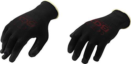 BGS 9947 | Mechaniker-Handschuhe | Größe 8 (M) | schwarz | Arbeitshandschuhe | Ideal für Reparaturen, Feinarbeiten, Automobilindustrie, Autoservice, Werkstatt
