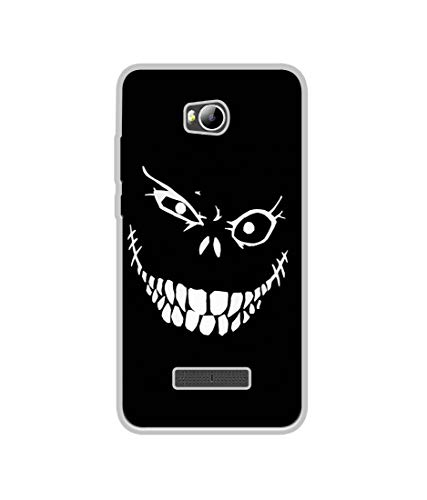 Casotec Face of Fear Design Printed Silicon Soft TPU Back Case Cover for Micromax Canvas Spark 3 Q385