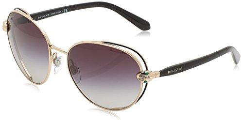 Bulgari Damen 0BV6087B 20238G 57 Sonnenbrille, Schwarz (Black/Pink Gold/Greygradient),