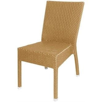 Garden/patio Wicker/rattan Side Chair (naturale) Pack 4-elegante e durevole mobili per il giardino