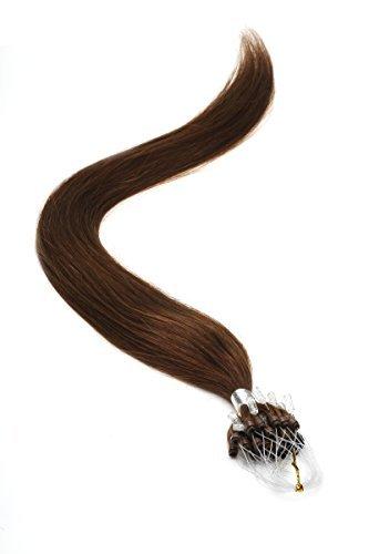 Extensions De Cheveux Boucle Micro Anneau 55.9cm Col 4 Brun Moka par Fierté Américaine