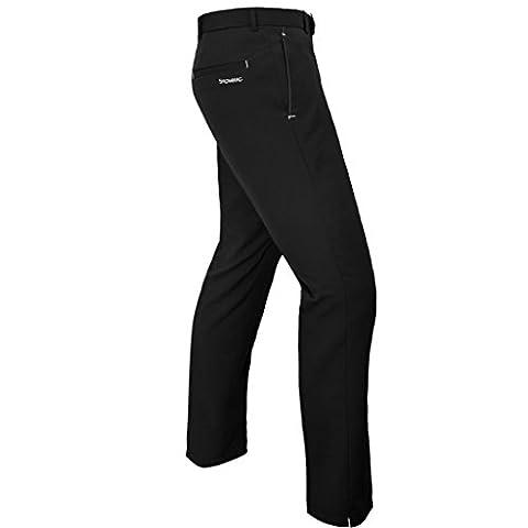 NEW 2017 Stromberg Sintra Pro-Flex Pants Water Resistant Mens Golf Trousers - Tapered Leg Black 30x33