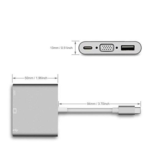 Nilox NLX-TC-VGAUSBTC - Mini Docking Station USB Type-C, ()