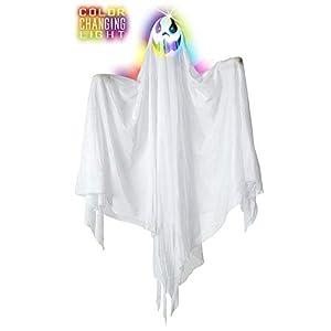 WIDMANN Fantasma luminoso que cambia Unisex-Adult, blanco, 90cm, vd-wdm7786a