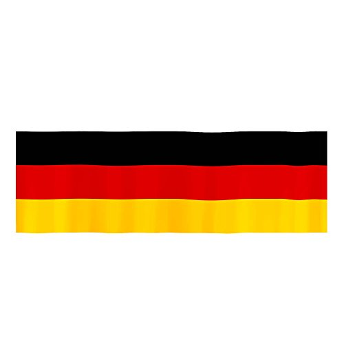 Piersando XXL Deutschland Balkonfahne 300cm x 90cm Fahne Fussball EM & WM Länderflagge Fanartikel Land Flagge Schwarz Rot Gold