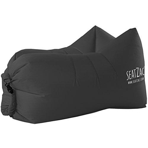 SeatZac Sitzsack, Stoff, Schwarz, 40 x 18 x 12 cm