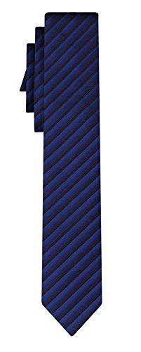 BOSS Seidenkrawatte BOSS fine stripe blue black