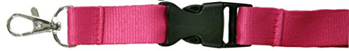 SBS Schlüsselband | 25mm | 10 Stück | Pink | Lanyard Trageband Bändel