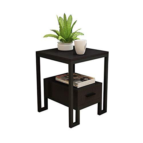 XIAOLVSHANGHANG CJ Wohnzimmer Sofa Tisch, Schlafzimmer Seite Kleiner Couchtisch Nachttisch Side Cabinet multifunktionale Schrank (Farbe : SCHWARZ, größe : #2) | Schlafzimmer > Nachttische | XIAOLVSHANGHANG