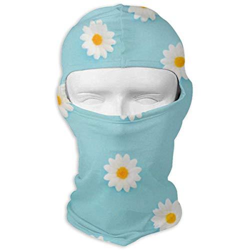 Jxrodekz Daisies Pattern Schnell trocknende Mikrofaser-Kopfbedeckung für das Radfahren von Gesichtsmasken - Mikrofaser-daisy