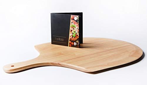 Wohlers Pizzastein Set | Pizzastein XXL 38cm | Schaufel...