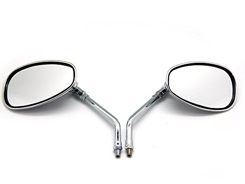 DLLL 2 x espejos retrovisores laterales para motocicleta de cromo y cromo,...