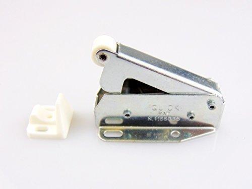 Federschnäpper Schrank-Schnäpper MINI QUICK Automatik Möbelschnäpper Schnäpper für Möbel & Schränke | Stahl vernickelt | Federschnapp-Verschluss | Möbelbeschläge von GedoTec® (Verschluss Mini)