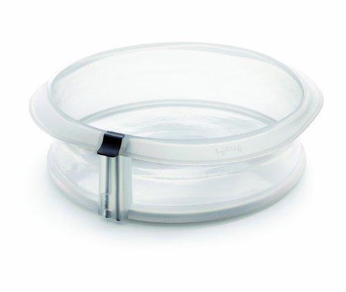 Lékué Duo - Stampo smontabile, 23 cm + piatto in ceramica, di colore trasparente