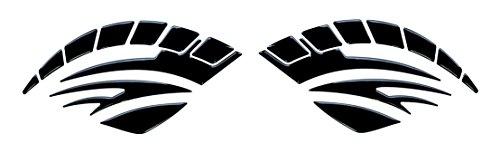 Seitentank-Pad 3D 810000 Black Schwarz - universeller Tank-Schutz passend für Motorrad-Tanks