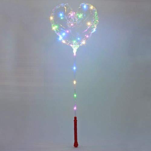 LED Globos Corazón vibrantes Fiesta Cumpleaños Boda Globo de aire 45999