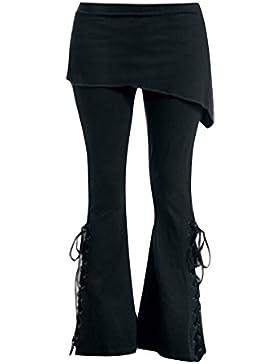 Pantalones Tamaño Más Pantalones Largos Pantalones Vintage con Minifaldas Alta Cintura Pantalón Negro Leotardos...