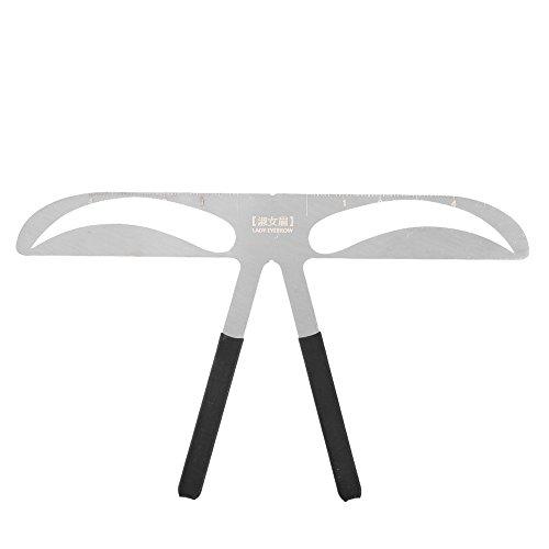 3 Stile Praktische Augenbrauen Schablone Make Up Augenbrauen Lineal Bremssättel Hilfemittel (Frauen Augenbrauen)