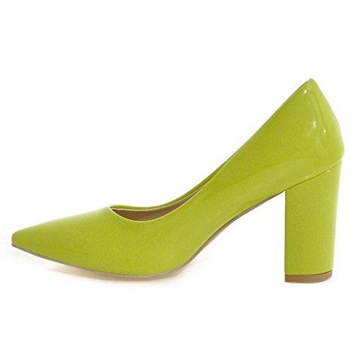 Donne Alta Blocco Di Colore Giallo 15 Tacco Taoffen Scarpe Tribunale 55HY4rqn