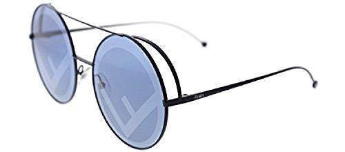 Fendi ff 0285/s 8n pjp 63, occhiali da sole donna, blu (bluette/bl blue)