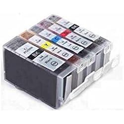 C63®–CLI8/PGI5AVEC PUCE []–Multipack. Ensemble complet de 5Canon compatible cartouches d'encre pour Imprimante Canon Pixma MP500, MP530, MP600, MP600R, MP610, MP800, MP800R